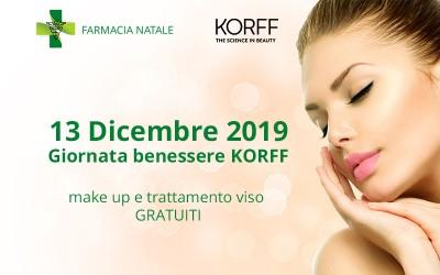 13 Dicembre 2019 - Giornata benessere KORFF: make up e trattamento viso gratuiti