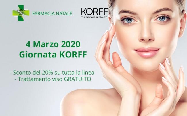 4 Marzo 2020 - Giornata benessere KORFF: make up e trattamento viso gratuiti